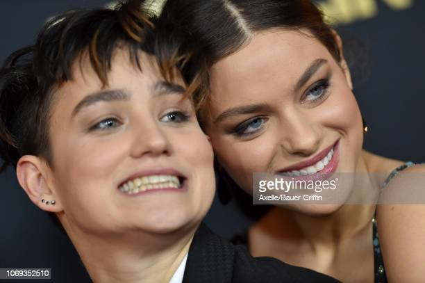 Bex TaylorKlaus and Odeya Rush attend the premiere of Netflix's 'Dumplin' at TCL Chinese 6 Theatres on December 6 2018 in Hollywood California