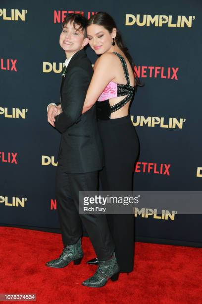 Bex TaylorKlaus and Odeya Rush attend the premiere of Netflix's 'Dumplin'' at TCL Chinese 6 Theatres on December 06 2018 in Hollywood California