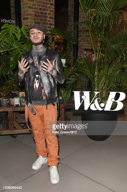 Bexley attends the Wolf Badger 10th Year Anniversary party during London Fashion Week February 2020 at Coal Drops Yard on February 13 2020 in London...