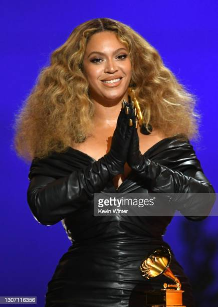 Beyoncé accepts the Best Rap Performance award for 'Savage' onstage during the 63rd Annual GRAMMY Awards at Los Angeles Convention Center on March...