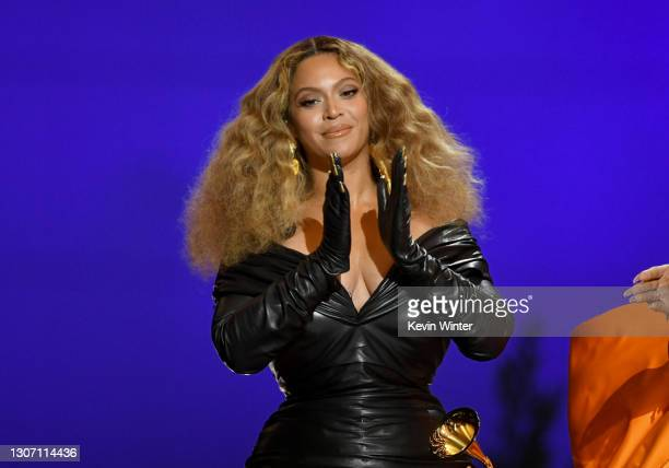 Beyoncé accepts the Best Rap Song award for 'Savage' onstage during the 63rd Annual GRAMMY Awards at Los Angeles Convention Center on March 14, 2021...