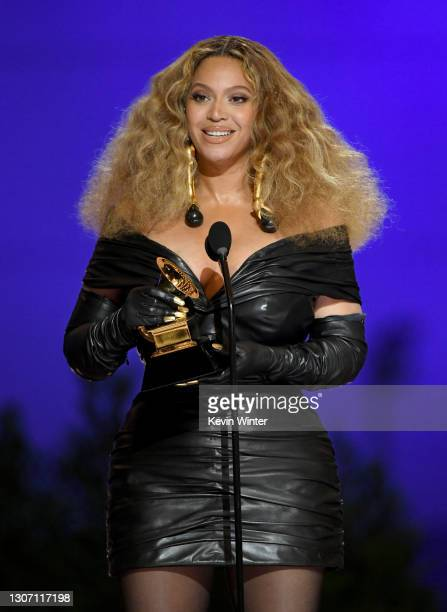 Beyoncé accepts the Best R&B Performance award for 'Black Parade' onstage during the 63rd Annual GRAMMY Awards at Los Angeles Convention Center on...