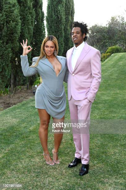 Beyoncé and Jay-Z attend 2020 Roc Nation THE BRUNCH on January 25, 2020 in Los Angeles, California.