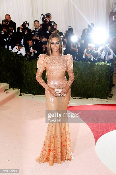 Beyonc�� attends the 2016 Costume Institute Gala at the Metropolitan Museum of Art on May 02 2016 in New York New York