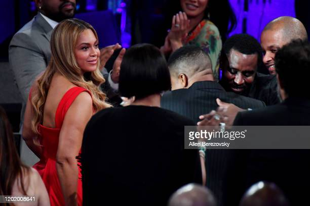 "Beyoncé attends the Pre-GRAMMY Gala and GRAMMY Salute to Industry Icons Honoring Sean ""Diddy"" Combs on January 25, 2020 in Beverly Hills, California."