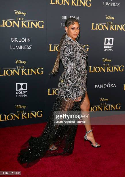 Beyoncé attends the premiere of Disney's The Lion King at Dolby Theatre on July 09 2019 in Hollywood California