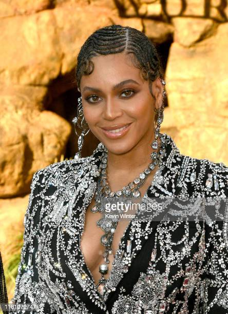 "Beyoncé attends the premiere of Disney's ""The Lion King"" at Dolby Theatre on July 09, 2019 in Hollywood, California."
