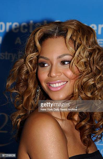 Beyonc Knowles is on hand for a bash aboard the Queen Mary 2 at Pier 92 benefiting the Entertainment Industry Foundation's National Colorectal Cancer...
