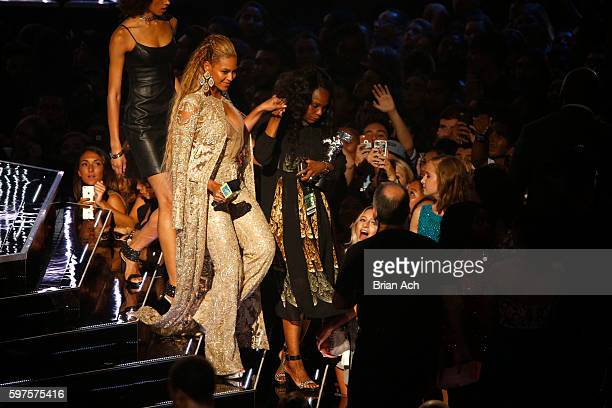 Beyonce accepts an award during the 2016 MTV Video Music Awards at Madison Square Garden on August 28 2016 in New York City
