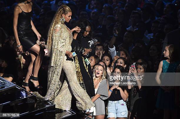 Beyonce accepts an award onstage during the 2016 MTV Music Video Awards at Madison Square Gareden on August 28 2016 in New York City