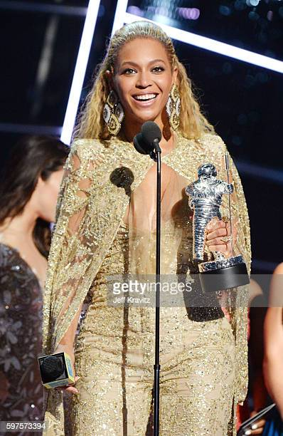 Beyonce accepts an award onstage during the 2016 MTV Video Music Awards at Madison Square Garden on August 28 2016 in New York City