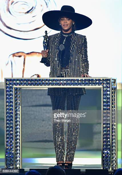Beyonce accepts CDFA Fashion Icon Award onstage at the 2016 CFDA Fashion Awards at the Hammerstein Ballroom on June 6 2016 in New York City