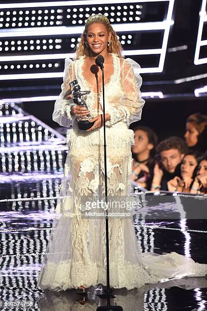 Beyonce accepts the award for Video of the Year onstage during the 2016 MTV Video Music Awards at Madison Square Garden on August 28 2016 in New York...