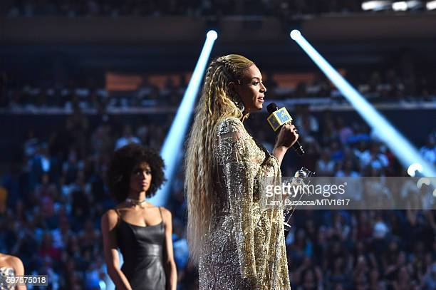 Beyonce accepts the award for Video of the Year onstage during the 2016 MTV Music Video Awards at Madison Square Gareden on August 28 2016 in New...