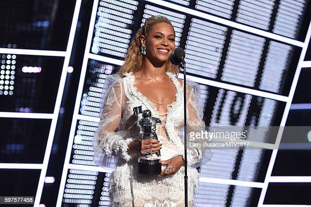 Beyonce accepts the awrad for Video of the Year onstage during the 2016 MTV Video Music Awards at Madison Square Garden on August 28, 2016 in New...