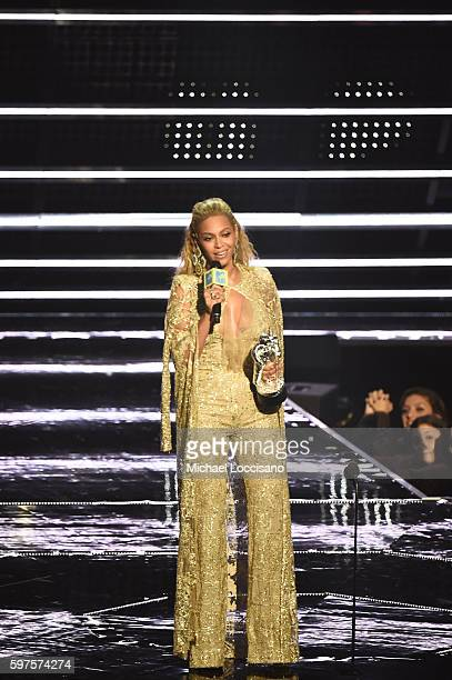Beyonce accepts the Best Female Video award during the 2016 MTV Video Music Awards at Madison Square Garden on August 28 2016 in New York City