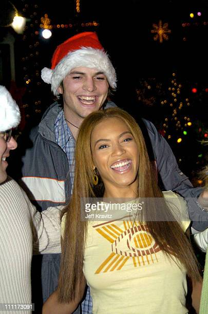 Beyonce and Ashton Kutcher during Beyonce Gets Punk'd at Universal Studios Hollywood in Universal City, California, United States.