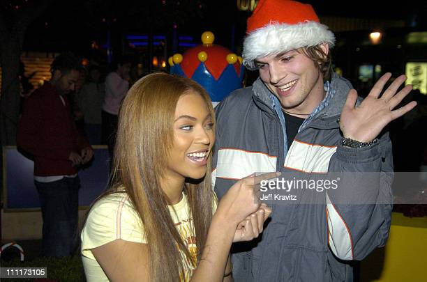 Beyonce and Ashton Kutcher during Beyonce Gets Punk'd at Universal Studios Hollywood in Universal City California United States