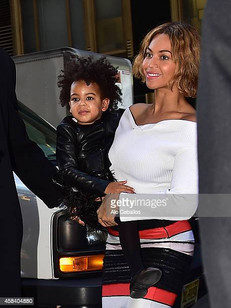 Beyonce and Blue Ivy Carter are seen on November 4, 2014 in New York City.