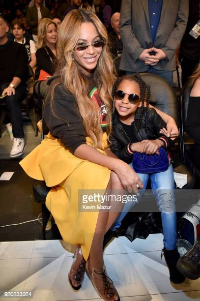 Beyonce and Blue Ivy Carter attend the 67th NBA All-Star Game: Team LeBron Vs. Team Stephen at Staples Center on February 18, 2018 in Los Angeles,...