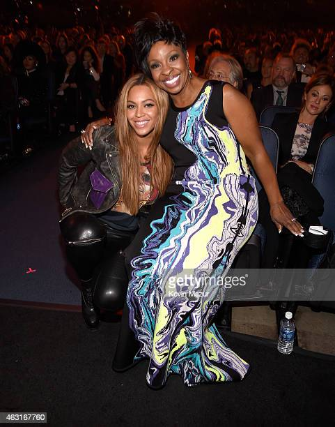 Beyonce and Gladys Knight attend Stevie Wonder Songs In The Key Of Life An AllStar GRAMMY Salute at Nokia Theatre LA Live on February 10 2015 in Los...