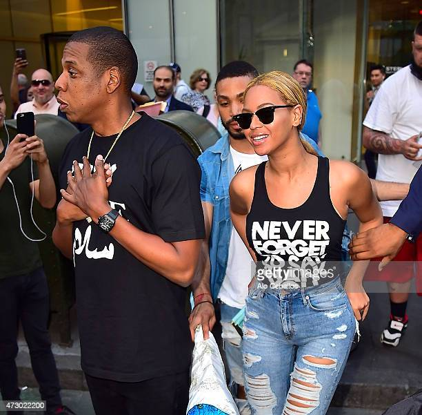 Beyonce and Jay Z are seen in Midtown on May 11, 2015 in New York City.