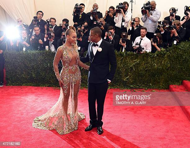Beyonce and Jay Z arrive at the 2015 Metropolitan Museum of Art's Costume Institute Gala benefit in honor of the museums latest exhibit China Through...
