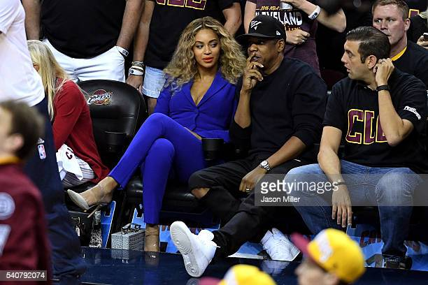 Beyonce and Jay Z attend Game 6 of the 2016 NBA Finals between the Cleveland Cavaliers and the Golden State Warriors at Quicken Loans Arena on June...
