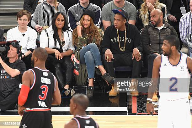 Beyonce and Jay Z attend The 64th NBA AllStar Game 2015 on February 15 2015 in New York City