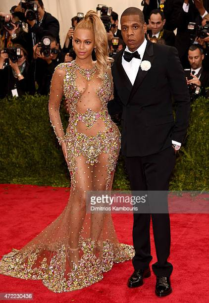 Beyonce and Jay Z attend the China Through The Looking Glass Costume Institute Benefit Gala at the Metropolitan Museum of Art on May 4 2015 in New...