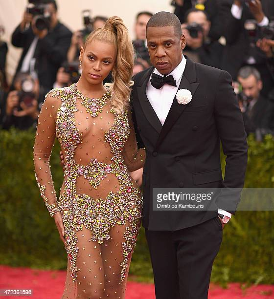 Beyonce and Jay Z attend the 'China: Through The Looking Glass' Costume Institute Benefit Gala at the Metropolitan Museum of Art on May 4, 2015 in...
