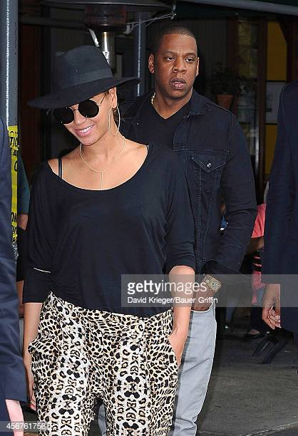 Beyonce and JayZ are seen on April 15 2012 in New York City