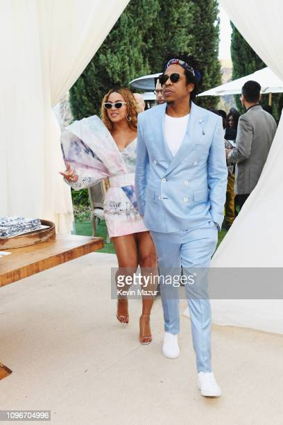 Beyonce and Jay-Z attend 2019 Roc Nation THE BRUNCH on February 9, 2019 in Los Angeles, California.