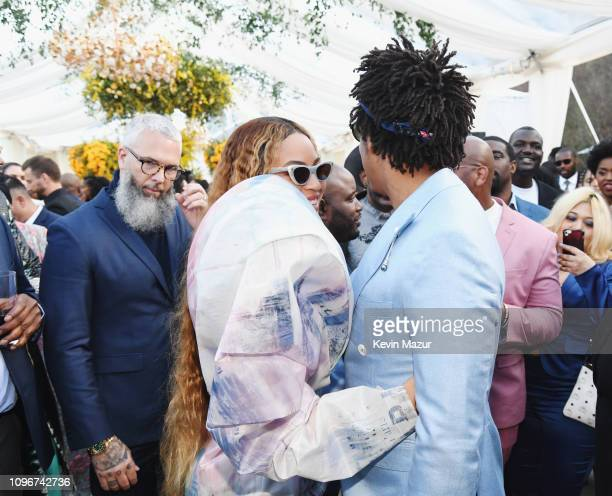 Beyonce and JayZ attend 2019 Roc Nation THE BRUNCH on February 9 2019 in Los Angeles California