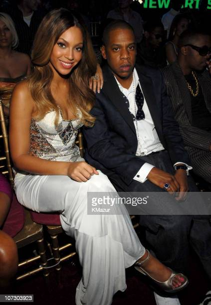 Beyonce and JayZ during 2006 MTV Video Music Awards Audience and Backstage at Radio City Music Hall in New York City New York United States