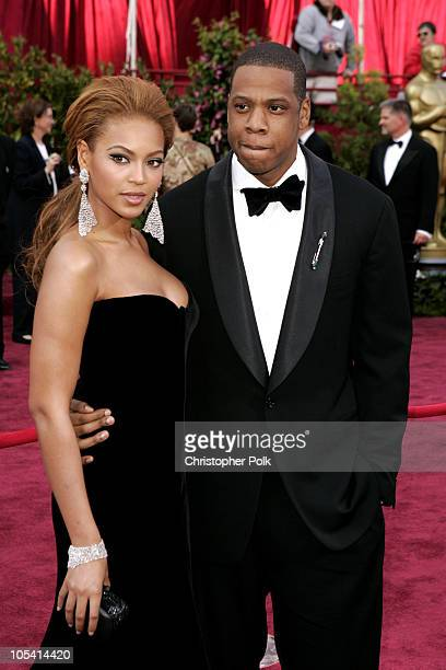 Beyonce and JayZ during The 77th Annual Academy Awards Arrivals at Kodak Theatre in Los Angeles California United States