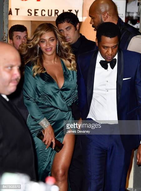 Beyonce and JayZ leave Rihanna's 3rd Annual Diamond Ball at Cipriani Wall Street on September 14 2017 in New York City