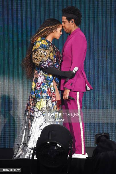 Beyonce and JayZ perform during the Global Citizen Festival Mandela 100 at FNB Stadium on December 2 2018 in Johannesburg South Africa