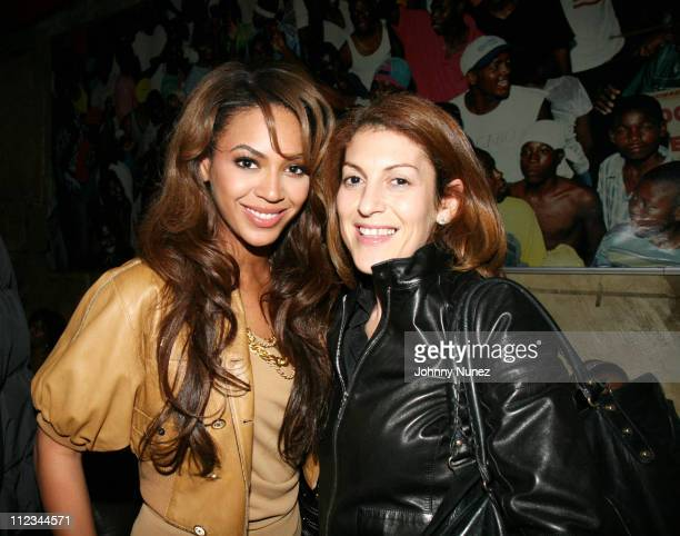 Beyonce and Julie Greenwald during Tocarra's 25th Birthday Party hosted by Mike Kyser March 3 2007 at PM Nightclub in New York City New York United...
