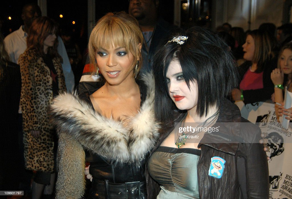 Beyonce and Kelly Osbourne during MTV Europe Music Awards 2003 - Arrivals at Ocean Terminal Arena in Edinburgh, Scotland.