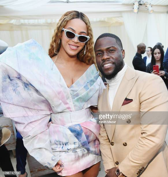 Beyonce and Kevin Hart attend 2019 Roc Nation THE BRUNCH on February 9 2019 in Los Angeles California