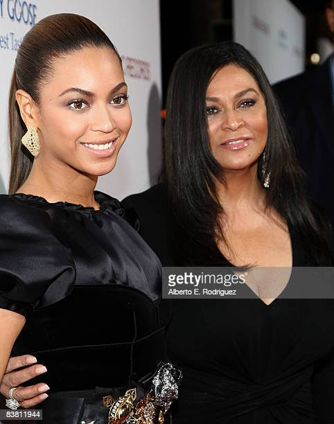 Beyonce and mother Tina Knowles arrive at the premiere of 'Cadillac Records' held at The Egyptian Theater on November 24 2008 in Hollywood California