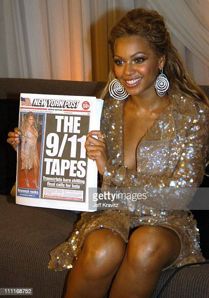Beyonce and The New York Post featuring herself on the cover