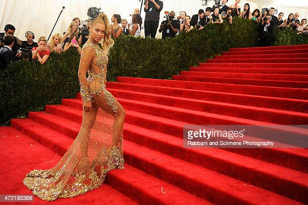 Beyonce arrives at China Through The Looking Glass Costume Institute Benefit Gala at the Metropolitan Museum of Art on May 4 2015 in New York City