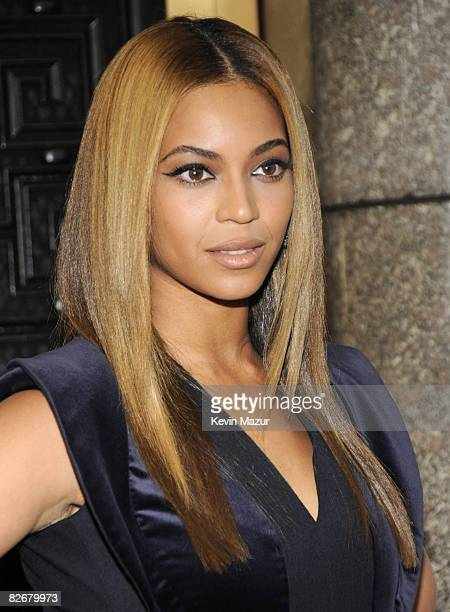 Beyonce arrives at Conde Nast Media Group's Fifth Annual Fashion Rocks at Radio City Music Hall on September 5 2008 in New York City
