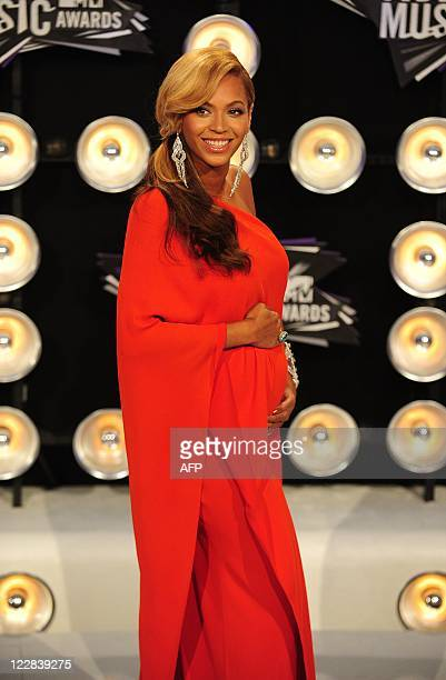 Beyonce arrives at the 2011 MTV Video Music Awards August 28 2011 at the Noika Theatre in downtown Los Angeles California AFP PHOTO / Frederic J Brown
