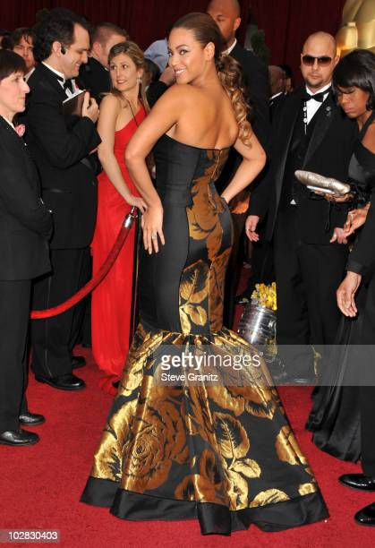 Beyonce arrives at the 81st Academy Awards at The Kodak Theatre on February 22 2009 in Hollywood California