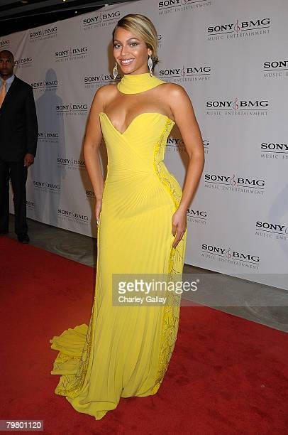 Beyonce arrives at the Sony/BMG Grammy After Party at the Beverly Hills Hotel on February 10 2008 in Beverly Hills California