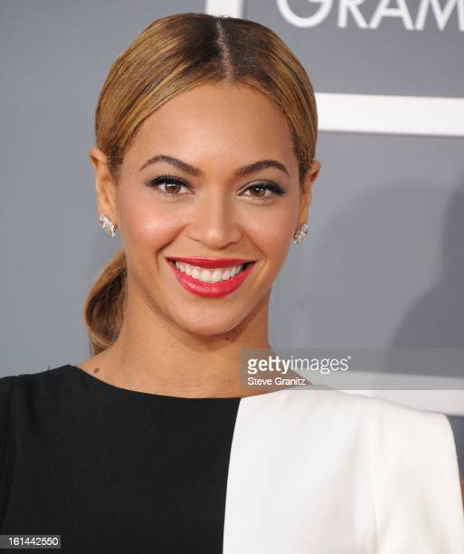 Beyonce arrives at the The 55th Annual GRAMMY Awards on February 10 2013 in Los Angeles California