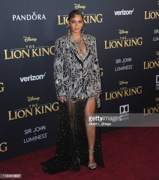 Beyonce arrives for the Premiere Of Disney's The Lion King held at Dolby Theatre on July 9 2019 in Hollywood California